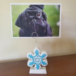 Snowflake Photo Stand / Balloon Holder